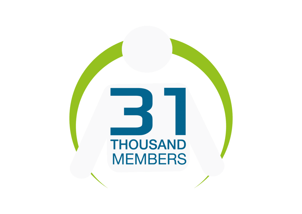 About us - 31,000 members infographic