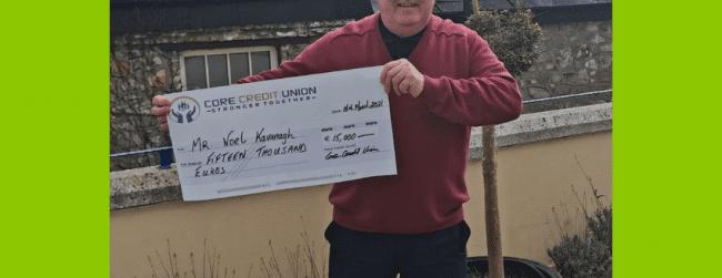 February 2021 Members Prize Draw Winner – Mr. Noel Kavanagh