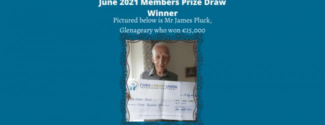 June 2021 Members Prize Draw
