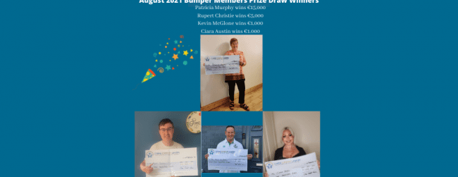 August 2021 Bumper Members Prize Draw