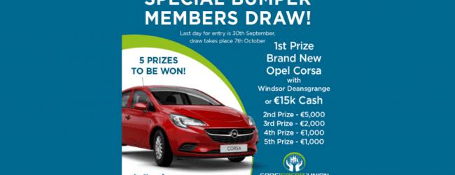 September 2021 Bumper Members Prize Draw